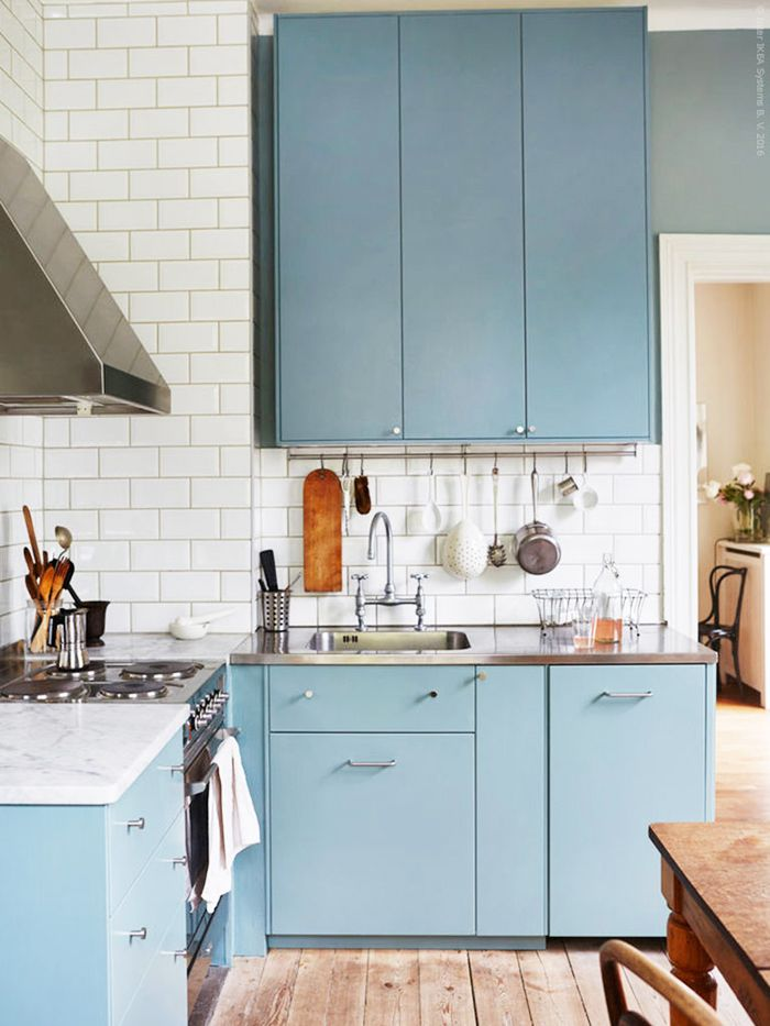Blue Kitchen Cupboards