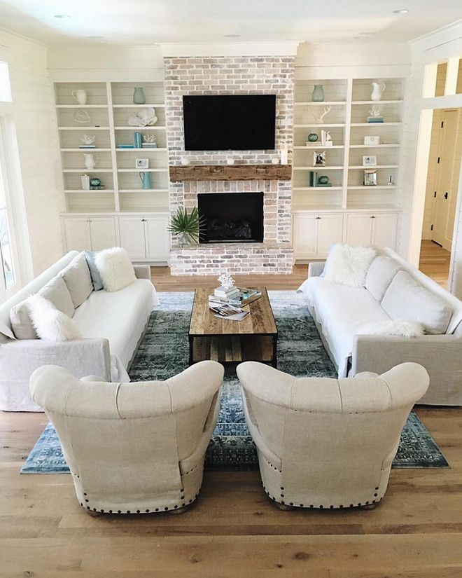 Living Room with Fireplace Layout