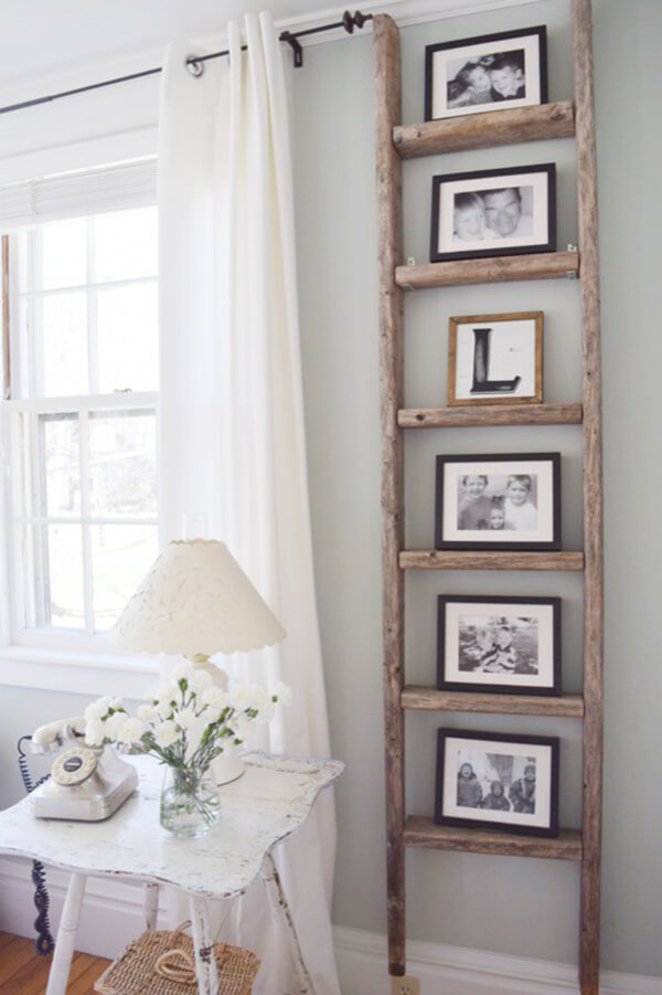 Old Ladder for Photo Display
