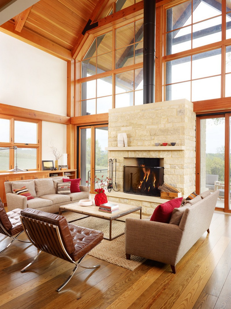 Luxurious Farmhouse Living Room