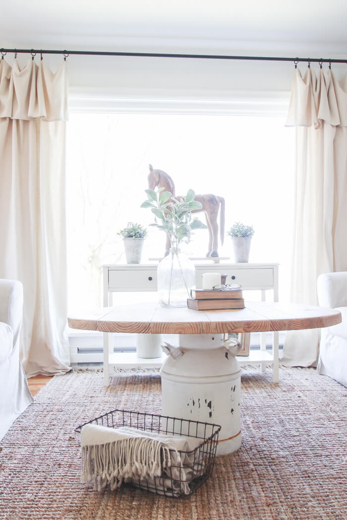 Old Milk Can Table