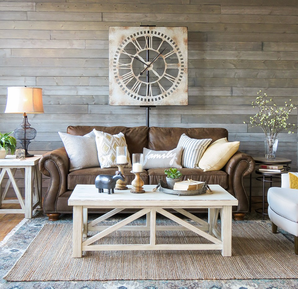 Gray Shiplap Wall