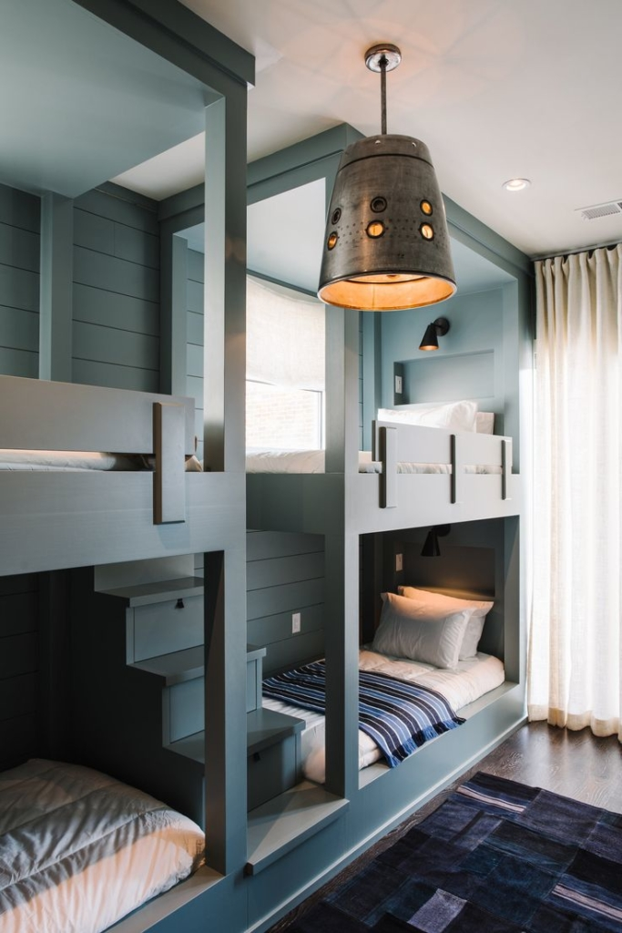 4 Bunk Beds in a Room