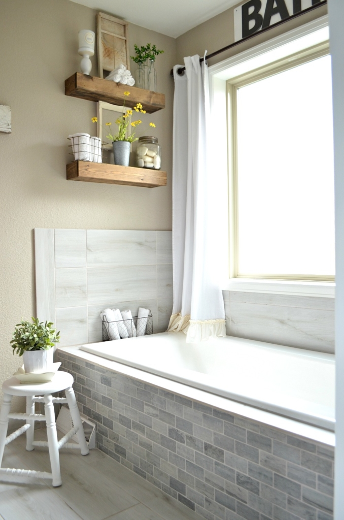 Ideas for Vintage and Modern Farmhouse Bathroom Decor ... on Farmhouse Bathroom Ideas  id=97705