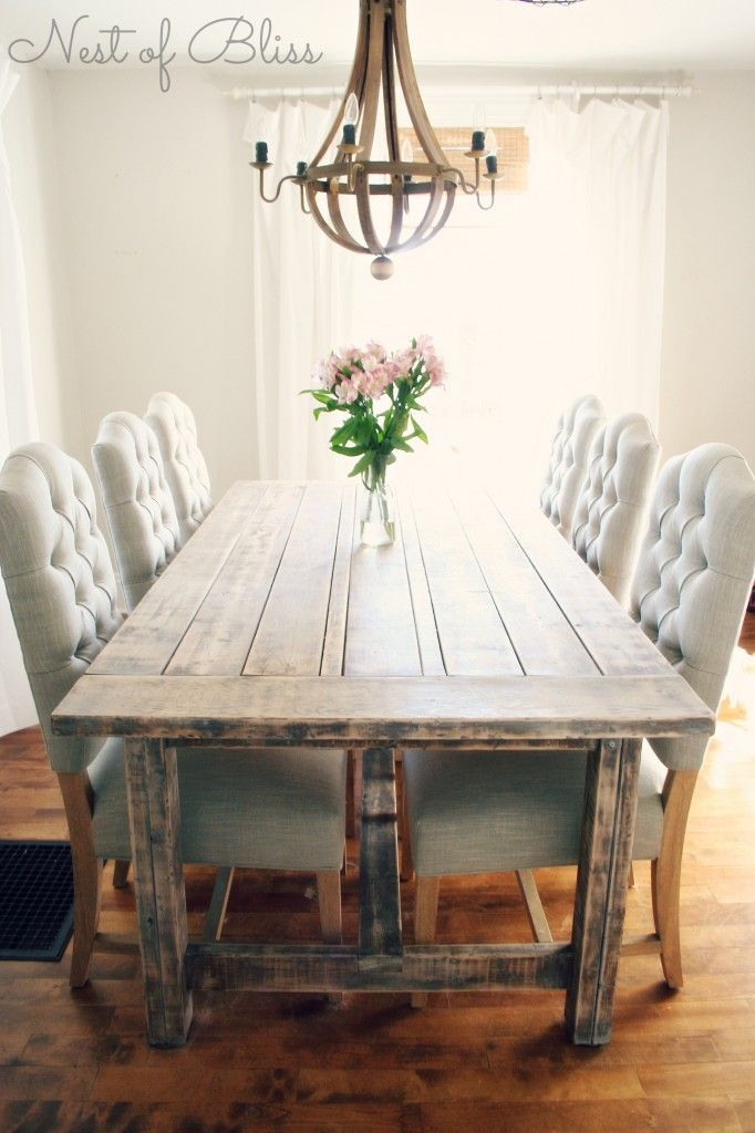 Farmhouse Dining Table Ideas For Cozy Rustic Look Diy Home Art