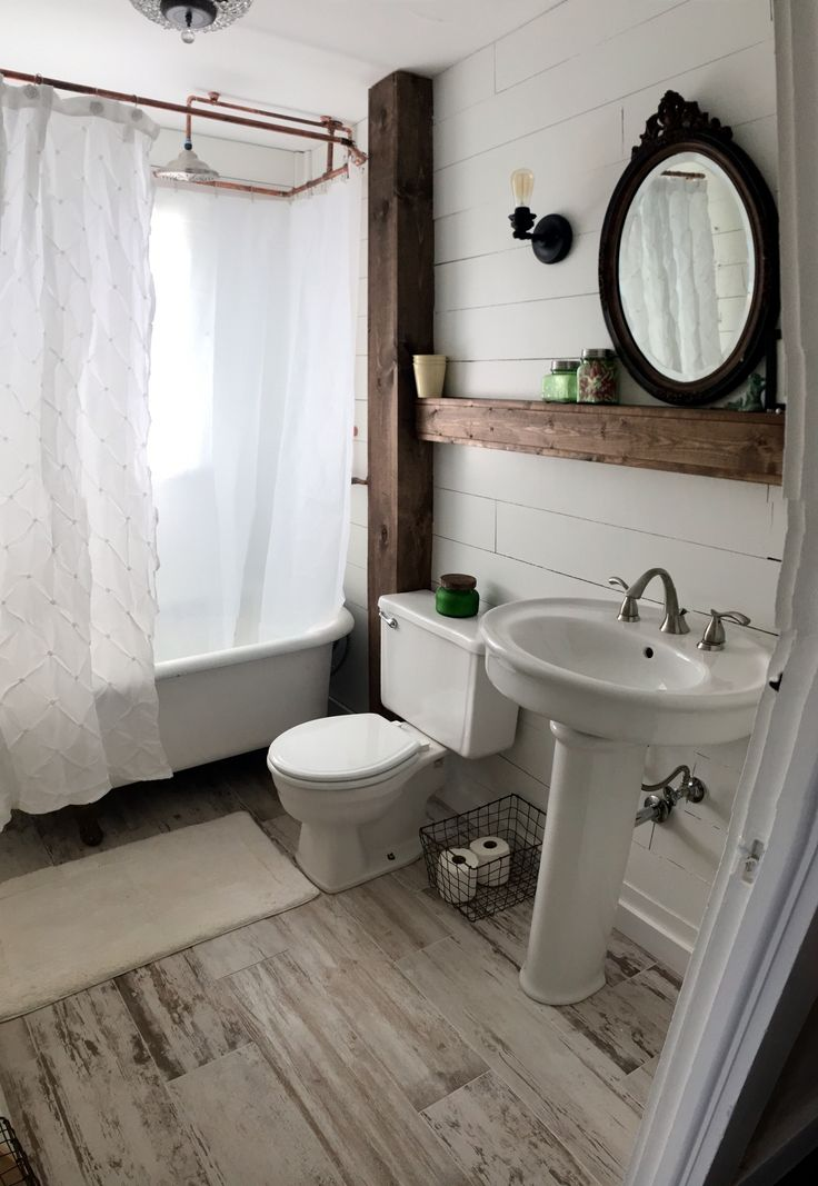 Ideas for Vintage and Modern Farmhouse Bathroom Decor ... on Farmhouse Bathroom Ideas  id=70497