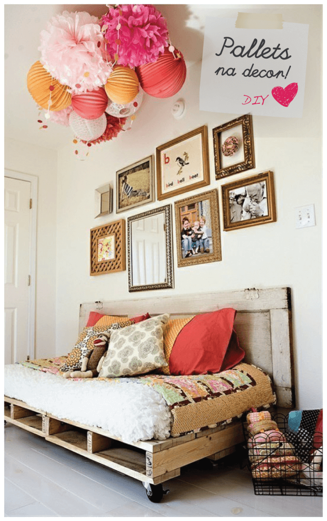 Colorful Bed Frame for Farmhouse Bedroom