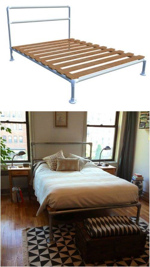 Simple Bed Frame from Pipe