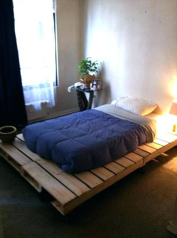 Wide Pallet Bed Frame