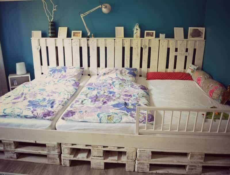 Pallet Bed Frame for Girly Bedroom