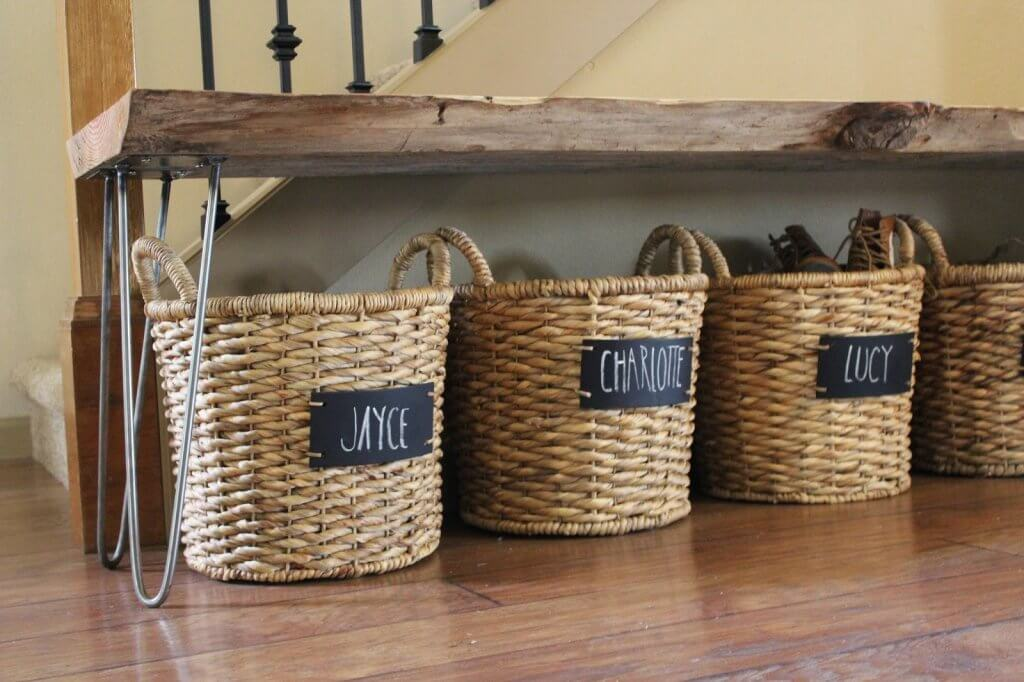 basket shoe storage