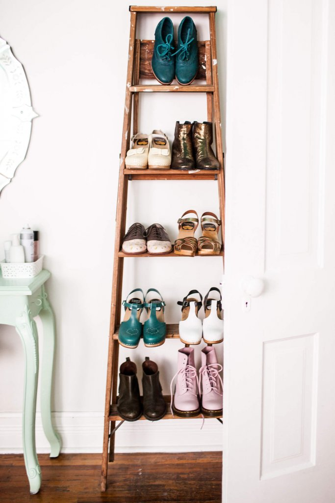 DIY Ladder Storage