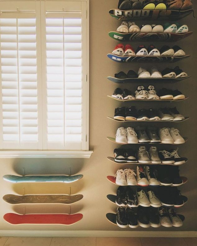Skateboard Shoe Storage