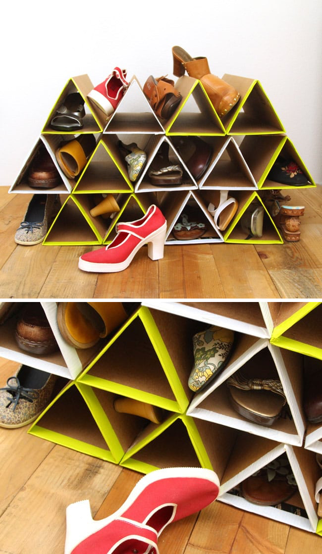 Triangle Shoe Storage