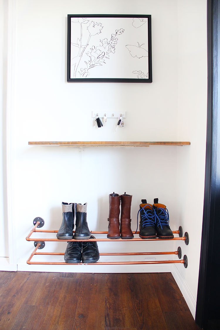 Old Pipe Shoe Storage
