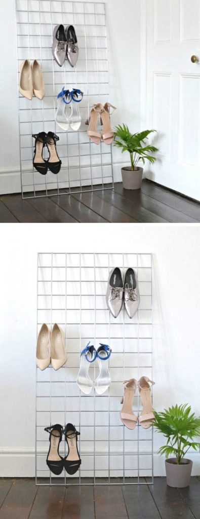 Use Plant Rack as Shoe Storage