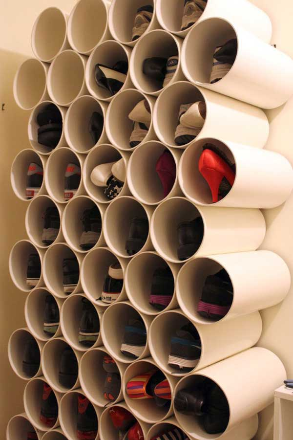 Pipe Storage for Flat Shoes