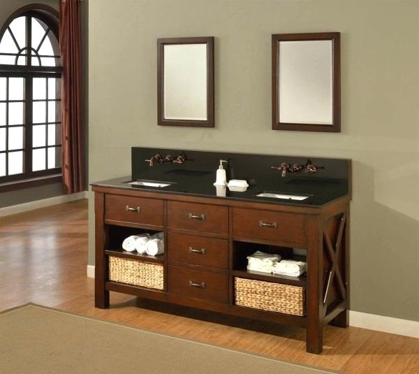 Open Vanity with Drawers