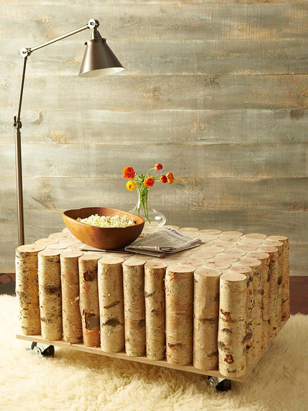 Wood Log Table