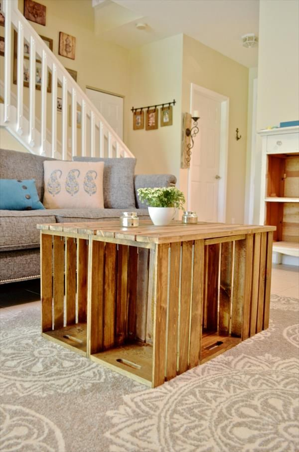 Old Wooden Boxes as Your Table