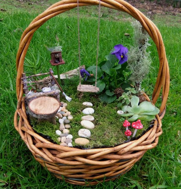 Little Garden on a Little Basket