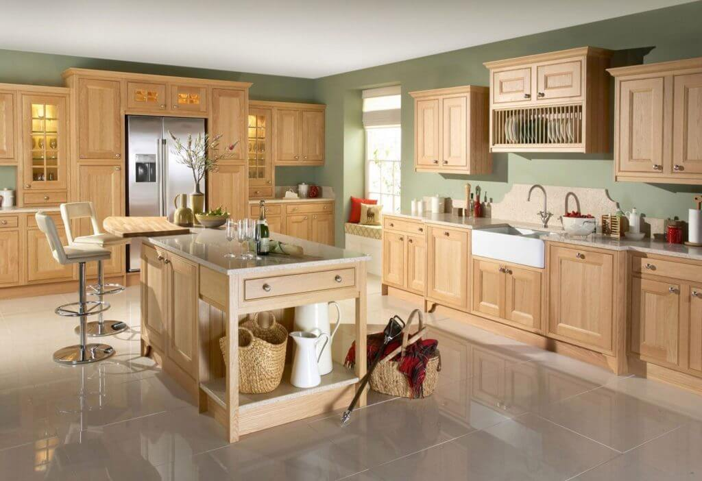 Trendy Light Colored Cabinet