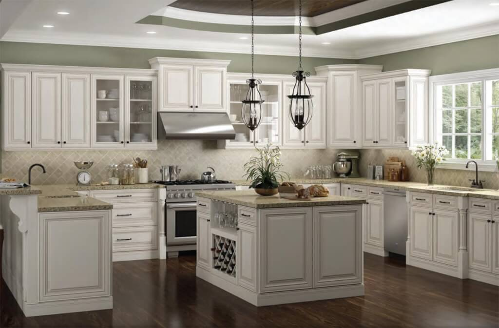 Classy Two Toned Cabinets