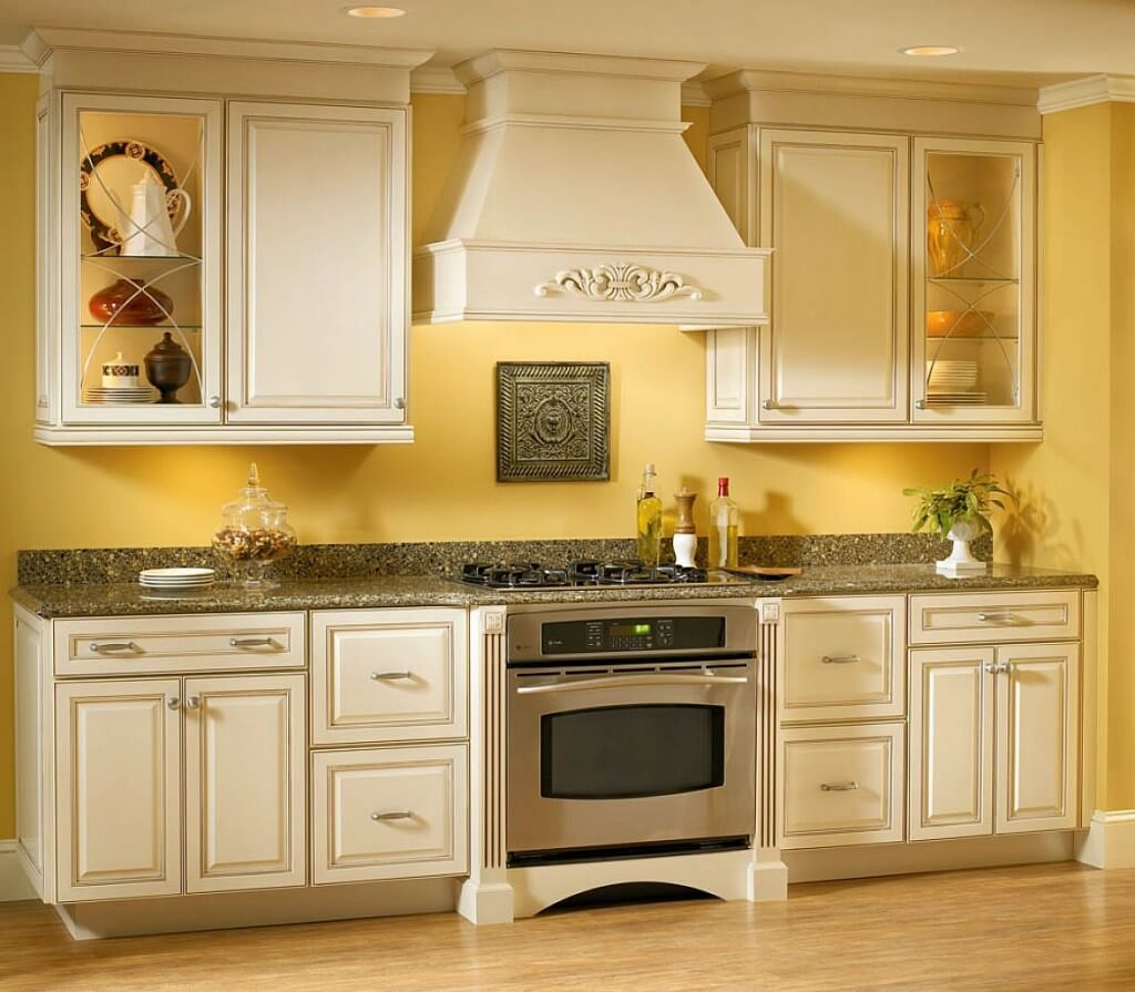 White Cabinets for Yellow Kitchen
