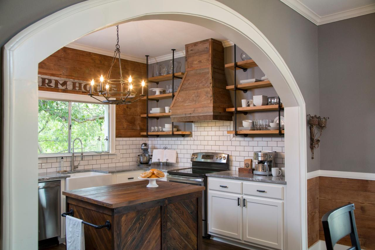 Simple Rustic Kitchen Island
