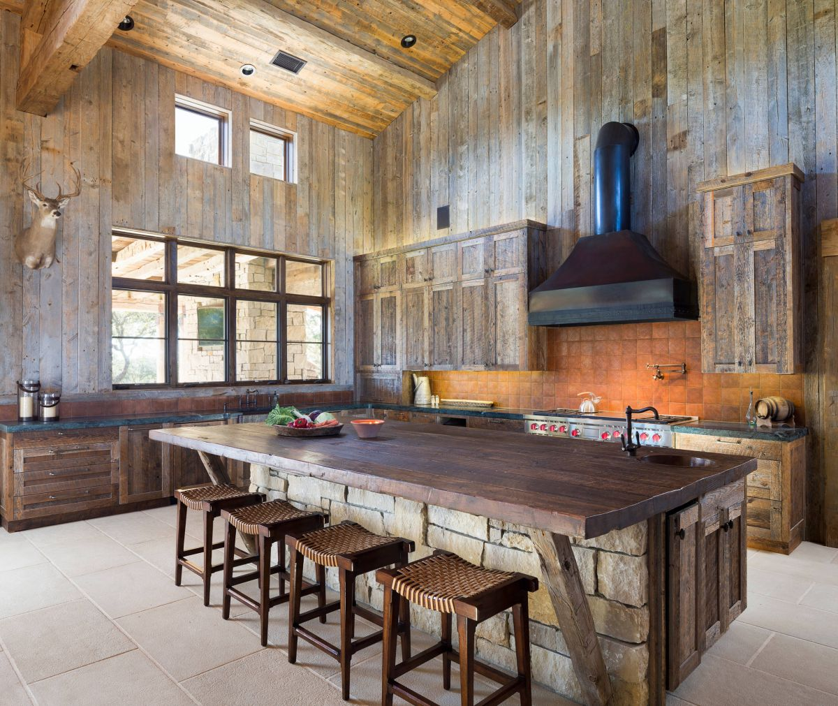 Kitchen Island from Stones