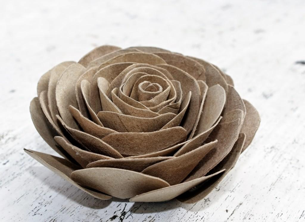Rose from Toilet Rolls
