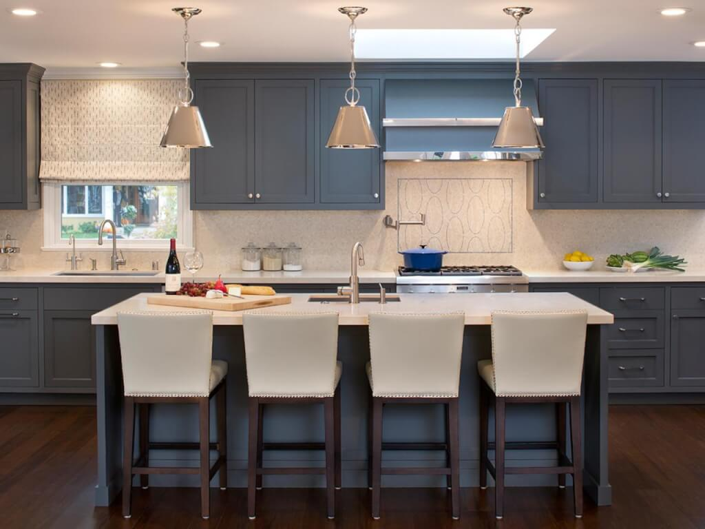 Blue Colored Cabinets