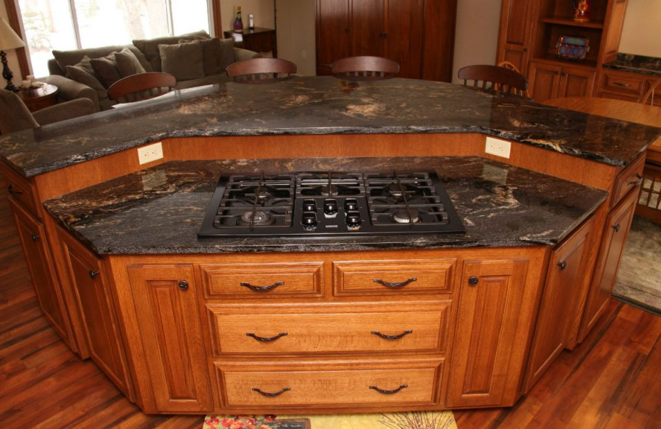 Unique Kitchen Island with Stove and Seating