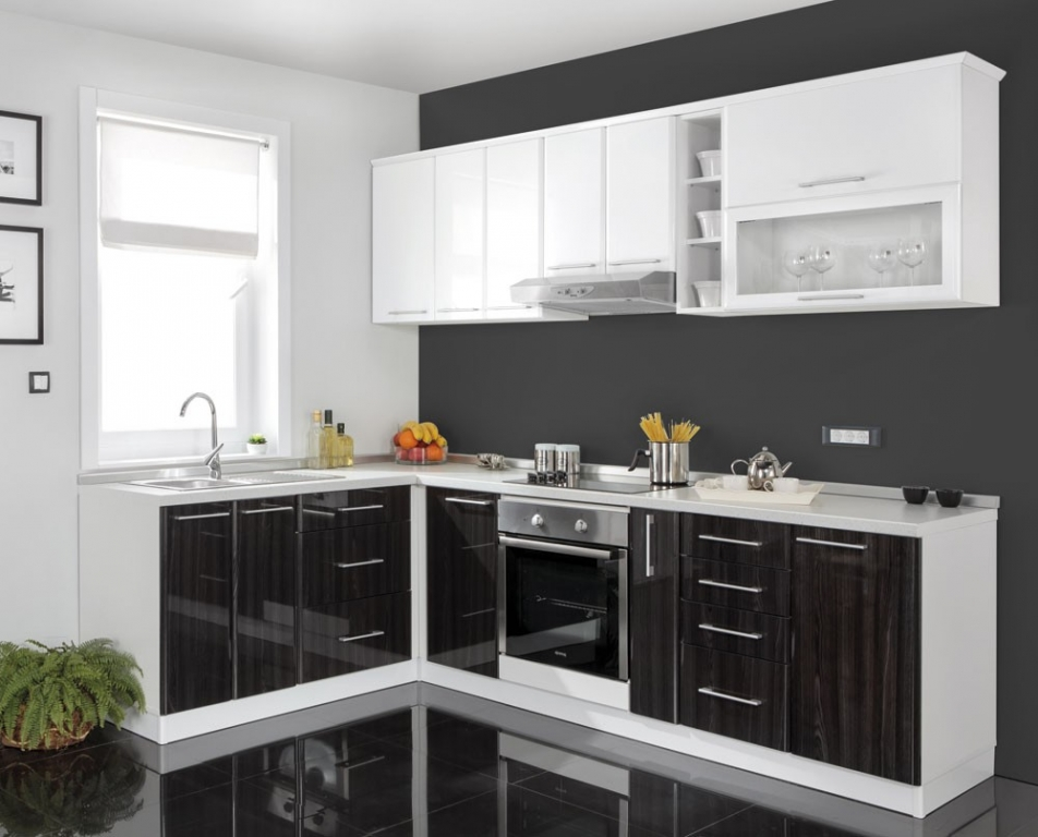 Modern Black and White KItchen Cabinets