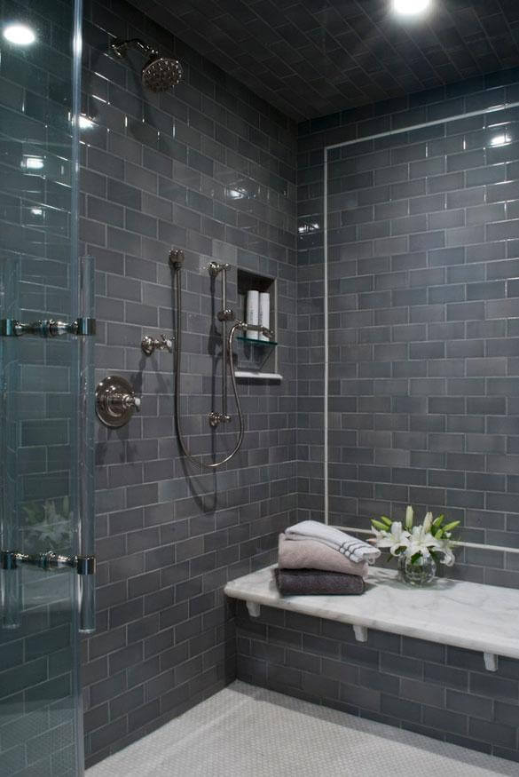 Dark Gray Brick Tiles