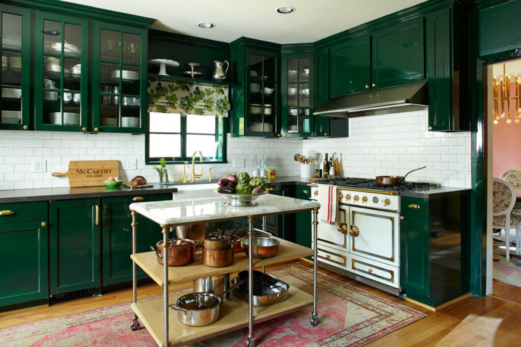 Emerald Green Kitchen Cabinets