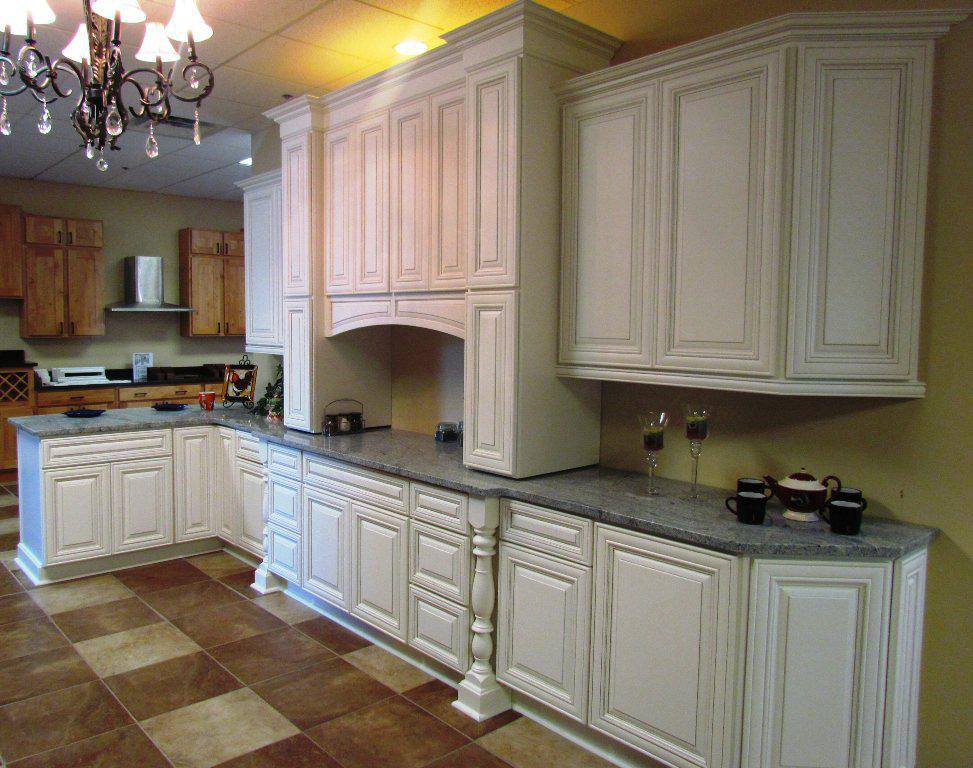 White KItchen Cabinets with Granite Countertops for Antique Kitchen