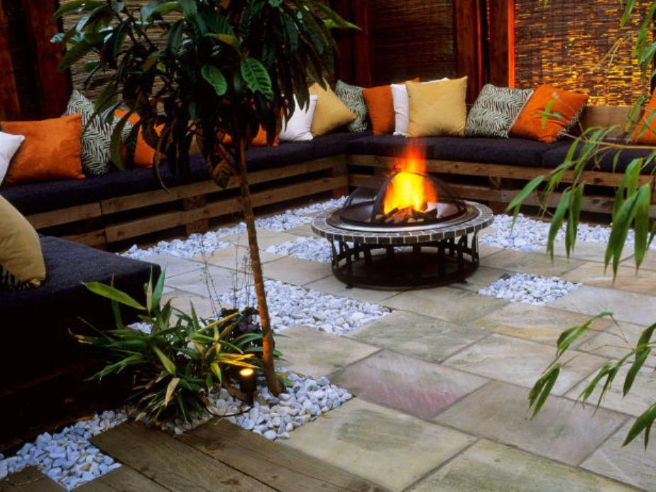 Patio Fire Pit and Grill