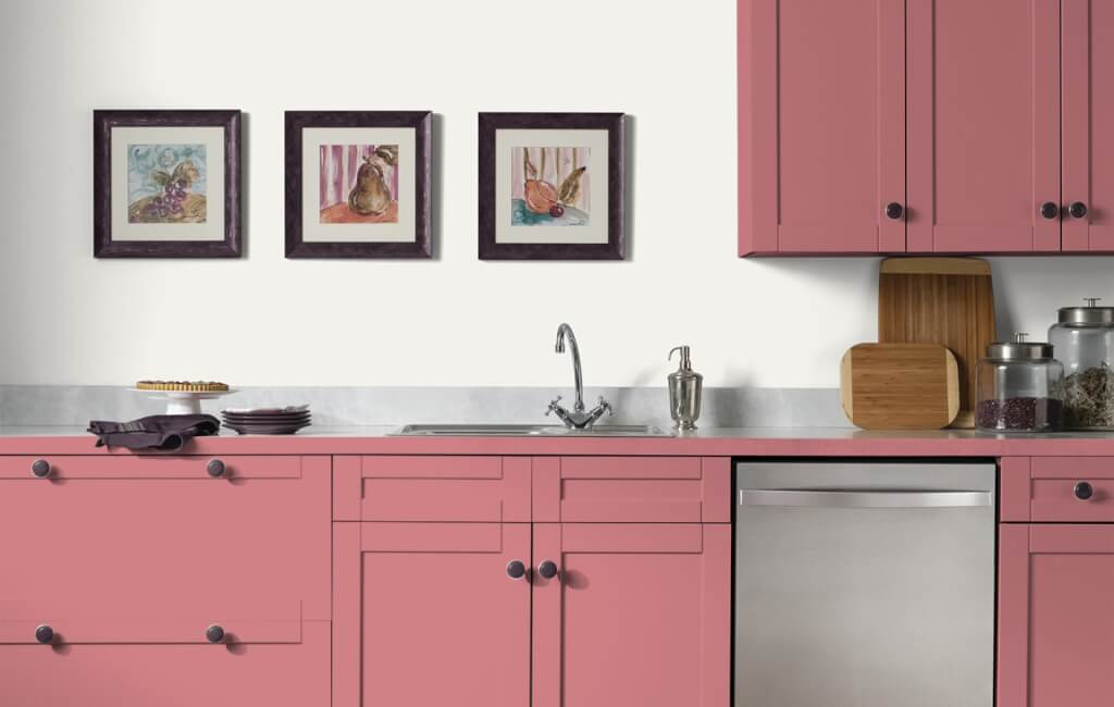 Rose Kitchen Cabinets