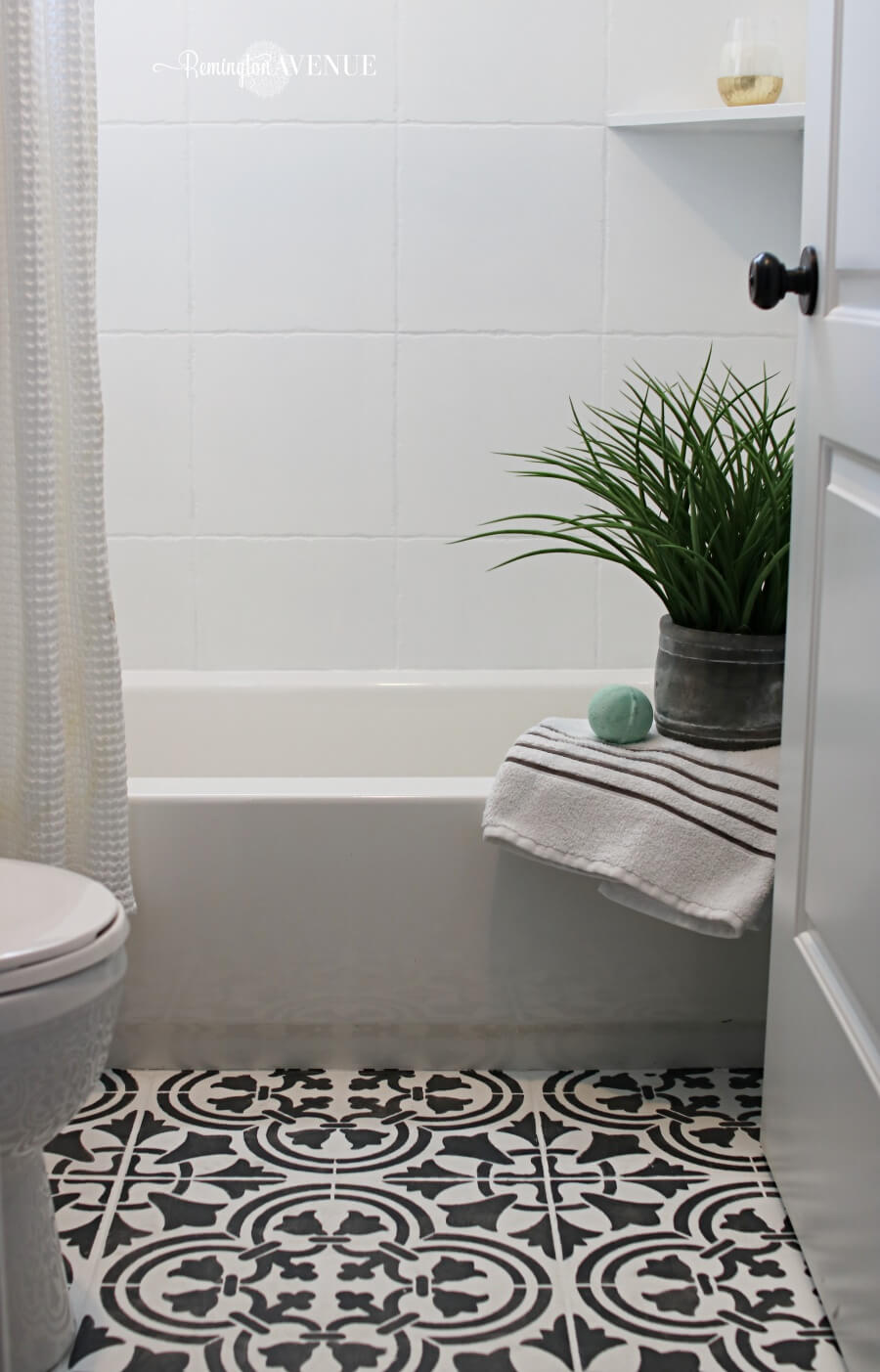 White and Patterned Tiles