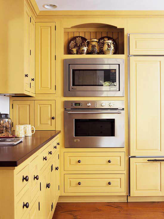 Simple Yellow Cabinets